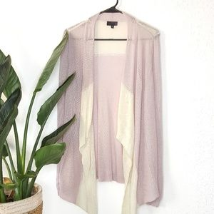 The Limited Colorblock Pink Waterfall Cardigan S
